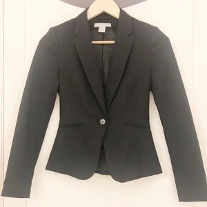 H&M Woman's Fitted Black Blazer Size 0